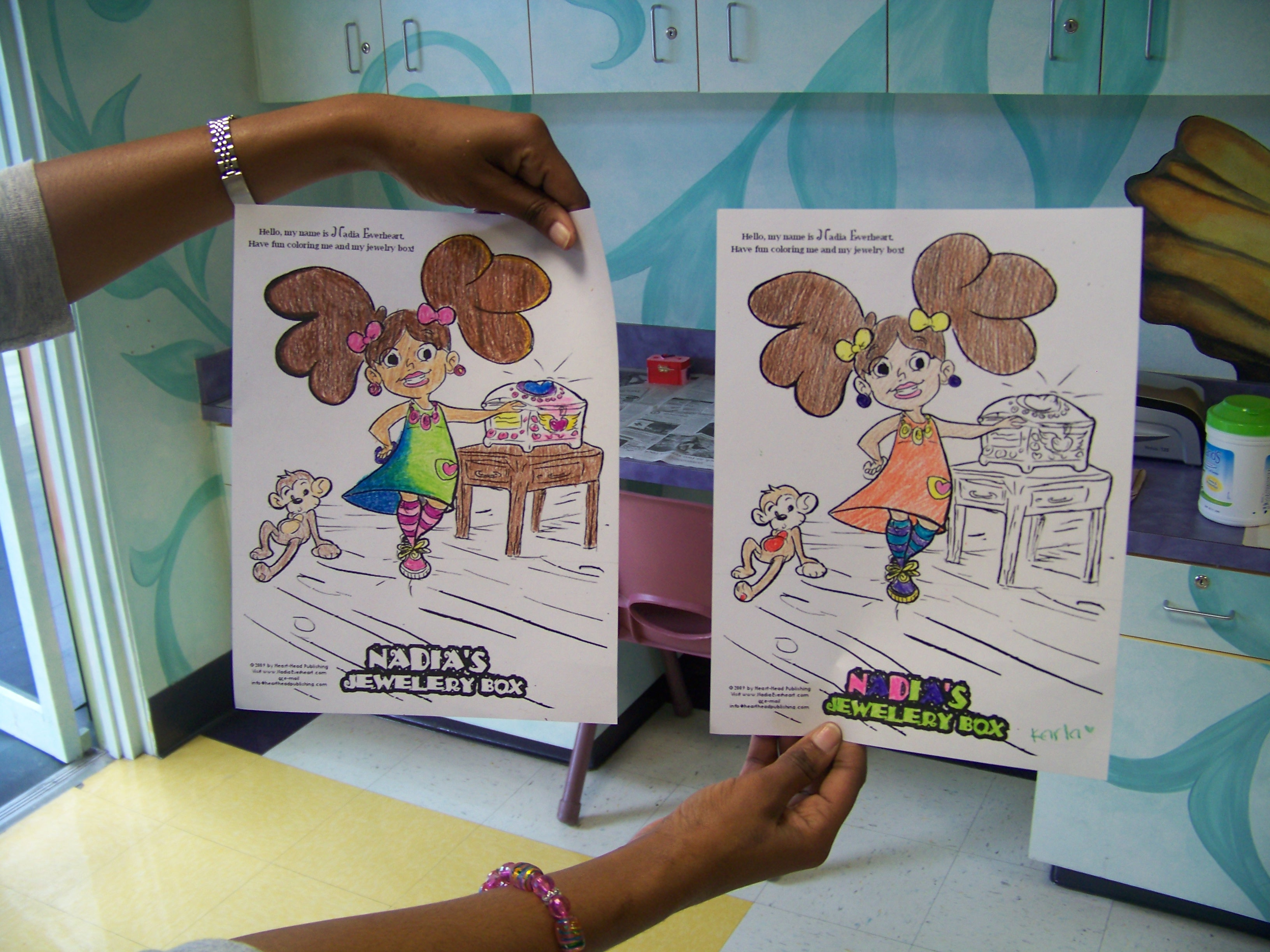 Childrens hospital coloring book - Nadia S Coloring Sheets Colored By Patients At The Miami Children S Hospital